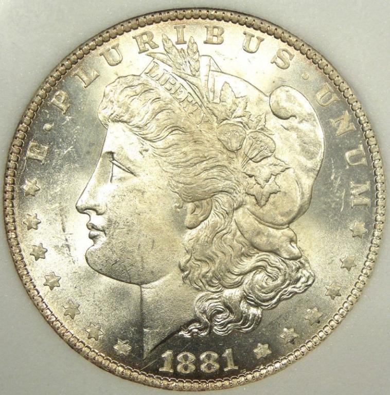 1881s pl Morgan Silver Dollar