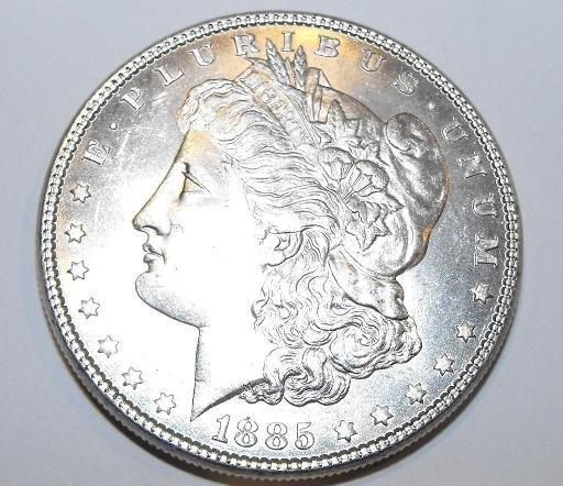 1885p ms63 + Morgan Silver Dollar