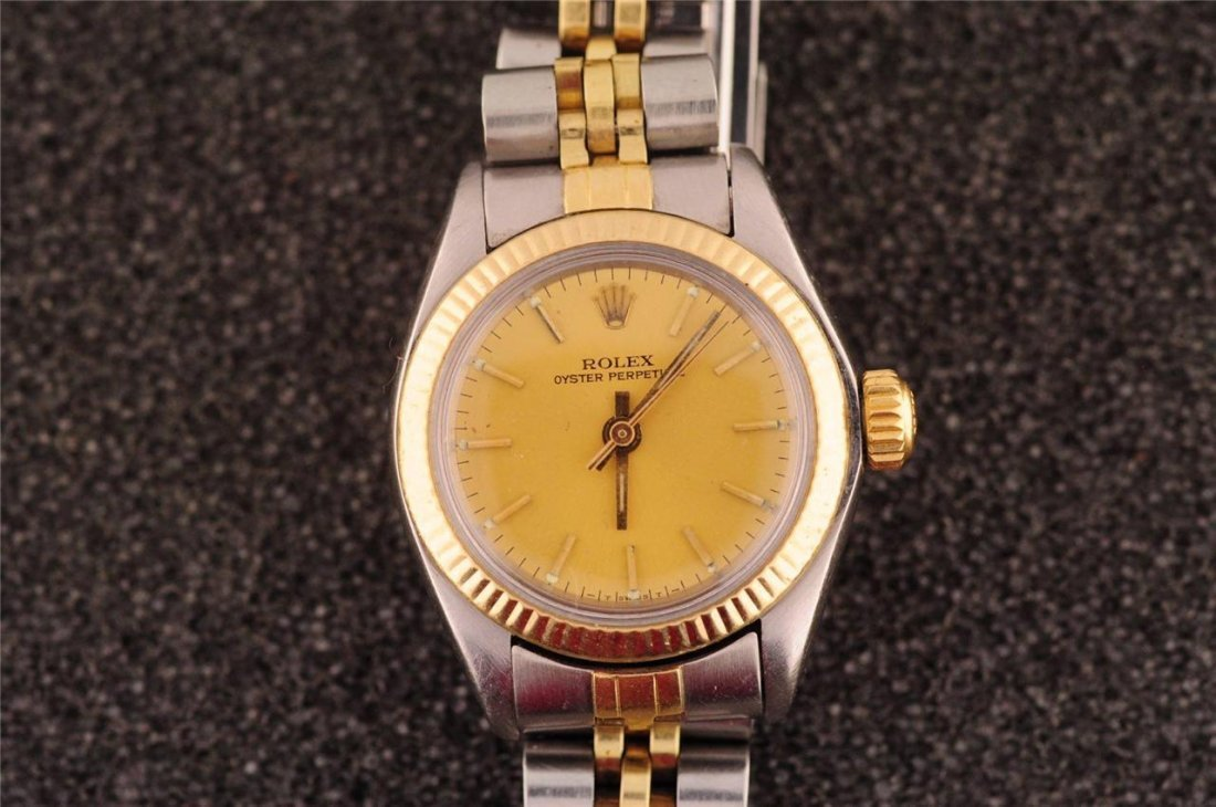 Ladies 2 tone Rolex Stainless Watch