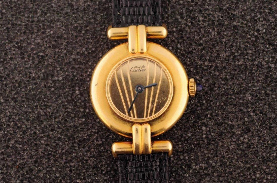 Ladies Vermeil Cartier .925 Watch