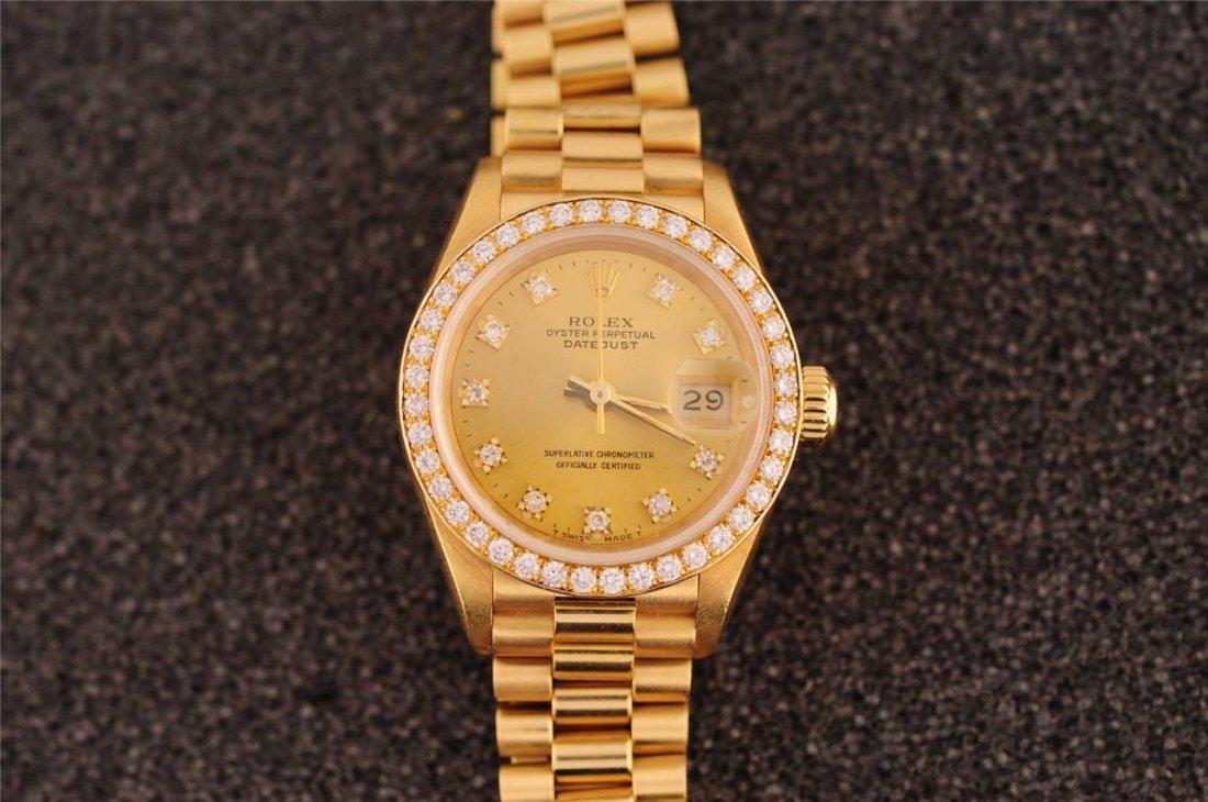 18k Ladies Rolex Crown Collection