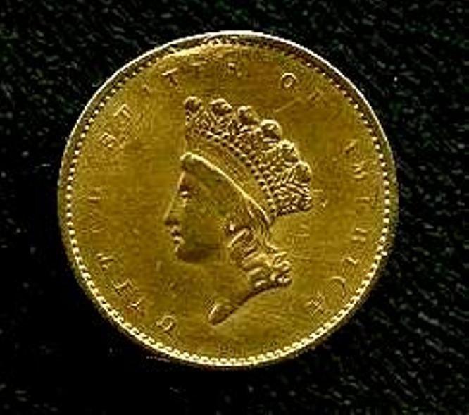 1855 RARE Princess $1 Gold Liberty Coin