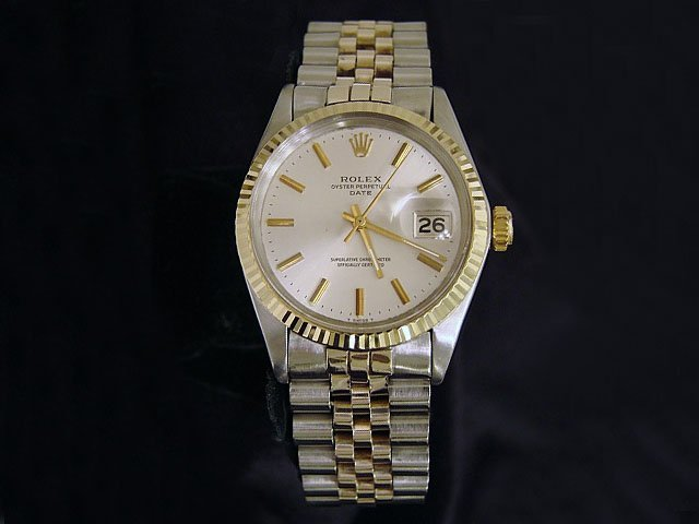 2 Tone Rolex Stainless 18k Date Watch