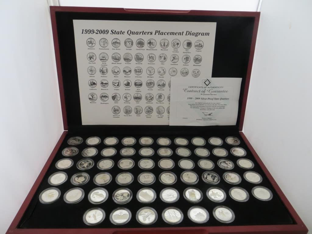 1999-2009 S Mint Proof Statehood Quarters in Case