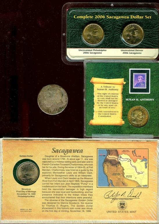 Sacagewea Gold Dollars -  SBA $1 Morgan $1