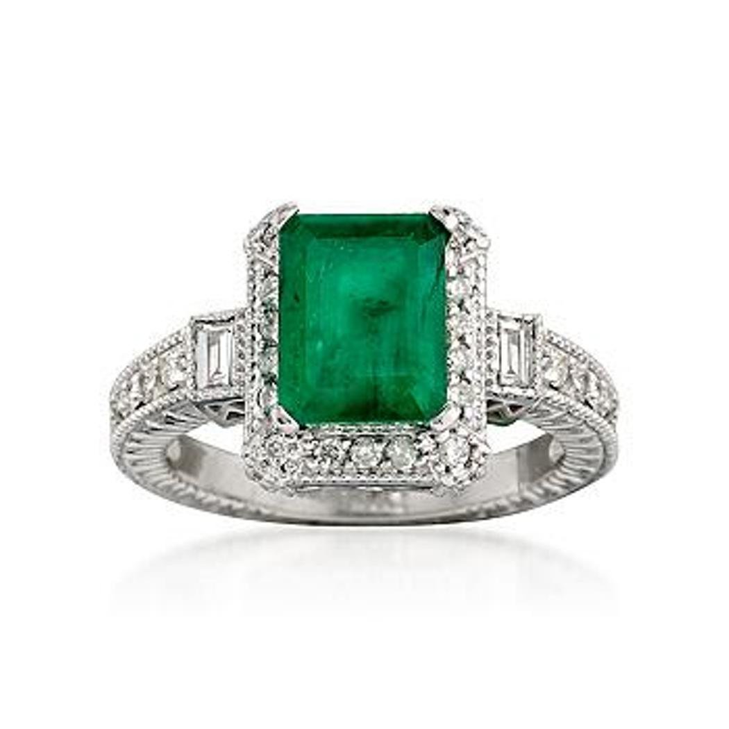 2.00 Carat Emerald and .50 ct. t.w. Diamond Ring in