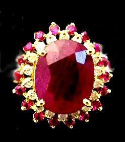 $13,237 app. Ruby & Diamond Ring