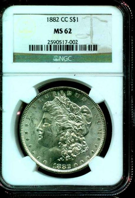 1882 CC MS 62 NGC Slabbed Key Date Morgan Dollar