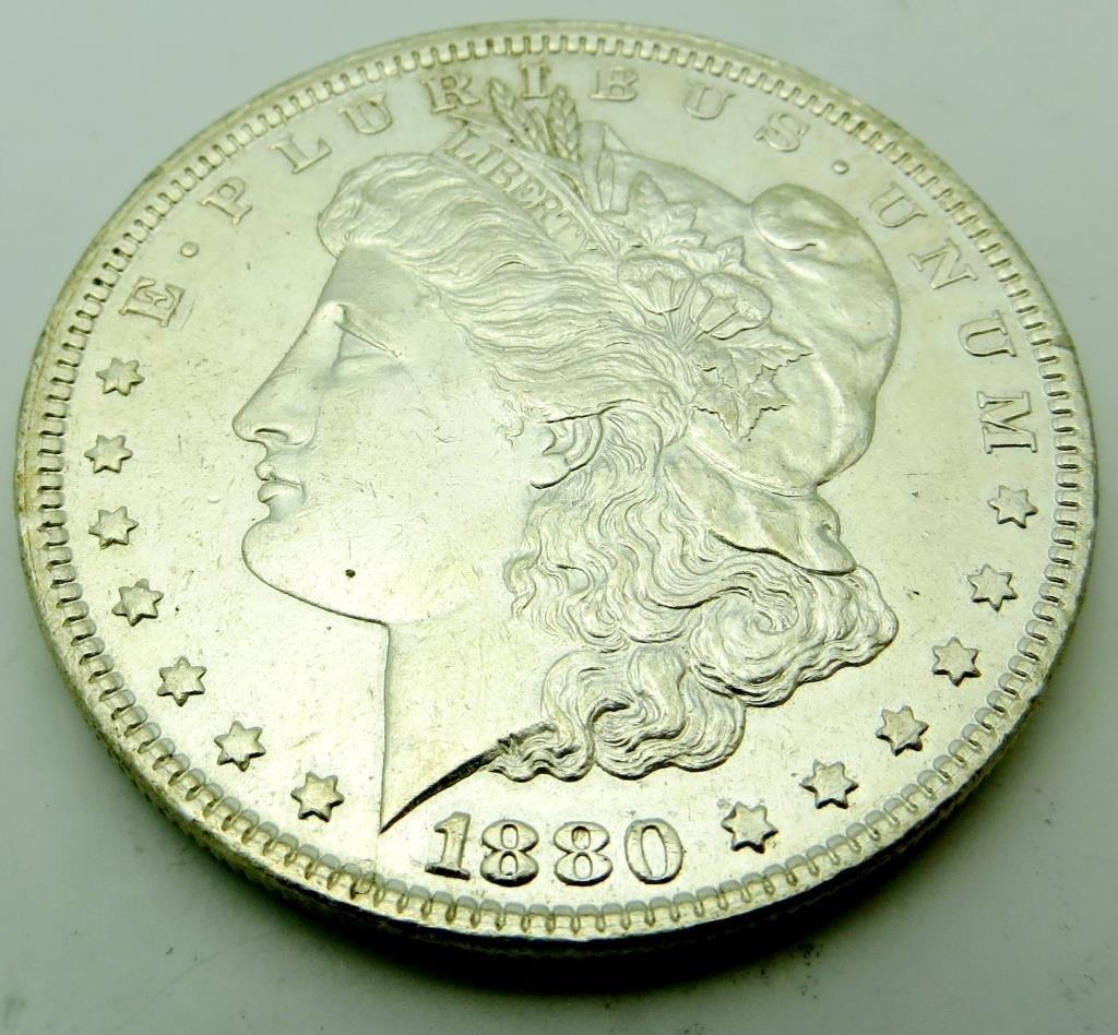 1880 P BU Morgan Silver Dollar