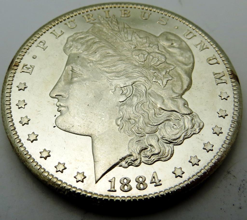 1884 CC Key Date Morgan Dollar CH BU