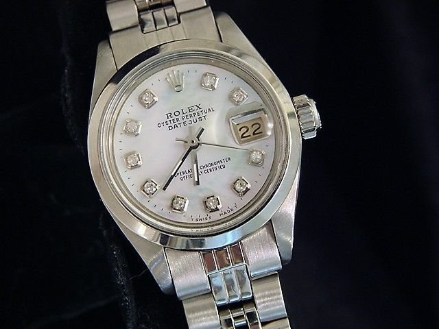 Ladie's Diamond Dial Watch Stainless ROLEX $6250
