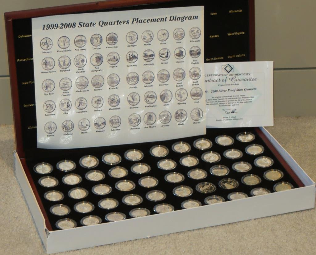 1999-2008 90% Silver Proof State Quarters in box