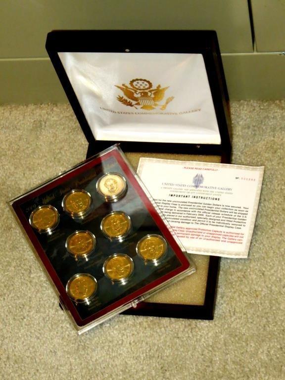 2009 Gold Presidential Dollars in Presentation Box