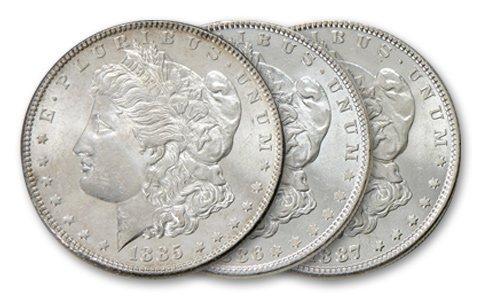 (3) Comstock Lode Morgan Dollars