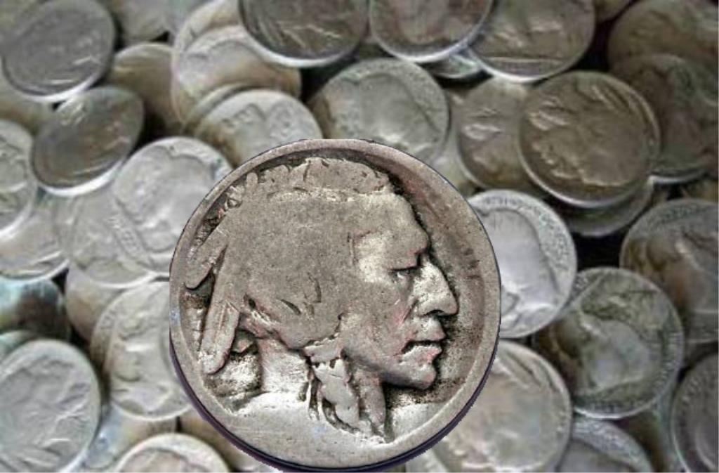 Lot of (100) ND Buffalo Nickels