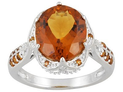 4.45ctw Oval And Round Citrine & Citrine Sterling