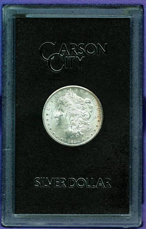 1884 CC GSA Russet Rim Toning Morgan Dollar