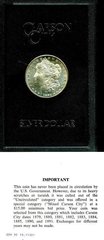 1884 CC GSA Mint State - UNC - Morgan Dollar