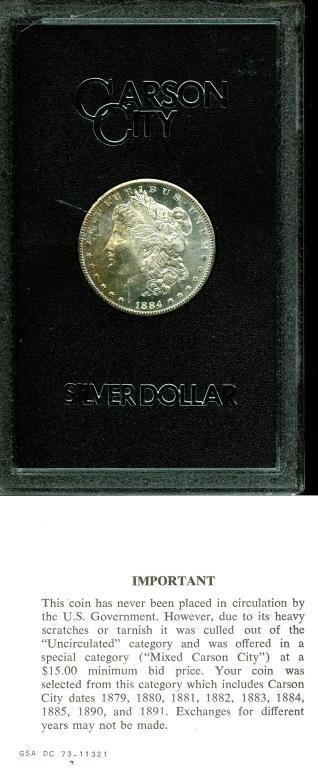 1884 CC GSA Russet Toned Obverse Morgan Dollar