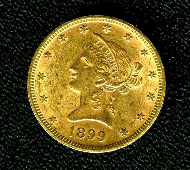 1899 $10 Gold Eagle - High Grade