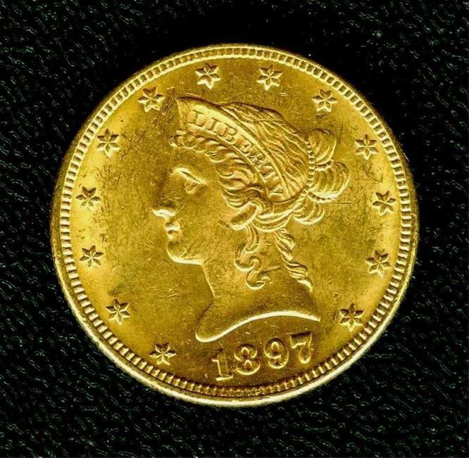1897 $ 10 Gold Eagle - High Grade