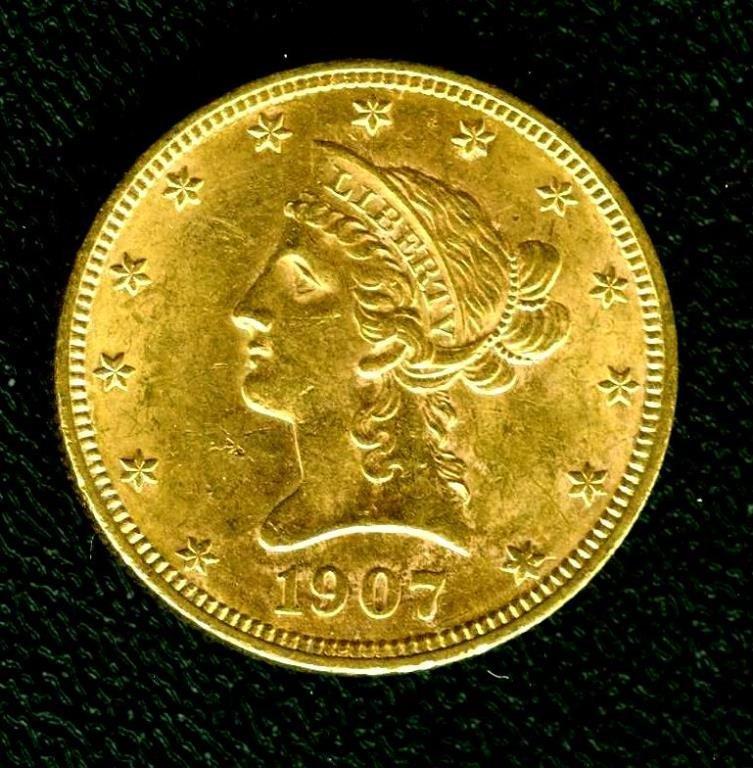 1907 $ 10 Gold Eagle - High Grade