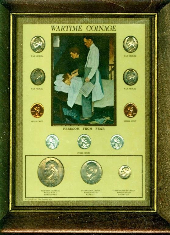 Wartime Coinage in Wood Frame