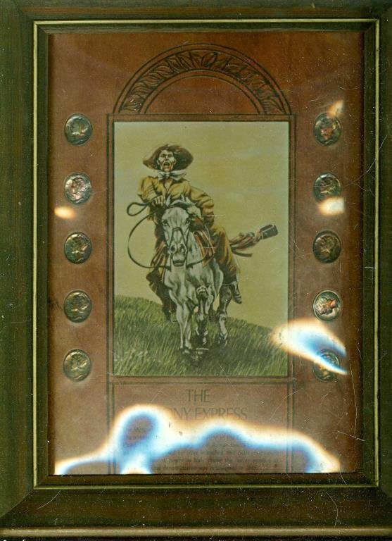 The Pony Express mercury Dimes in Frame