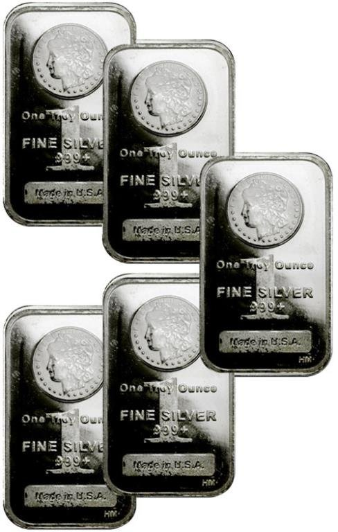 Lot of (5) Morgan Design 1 oz Bars