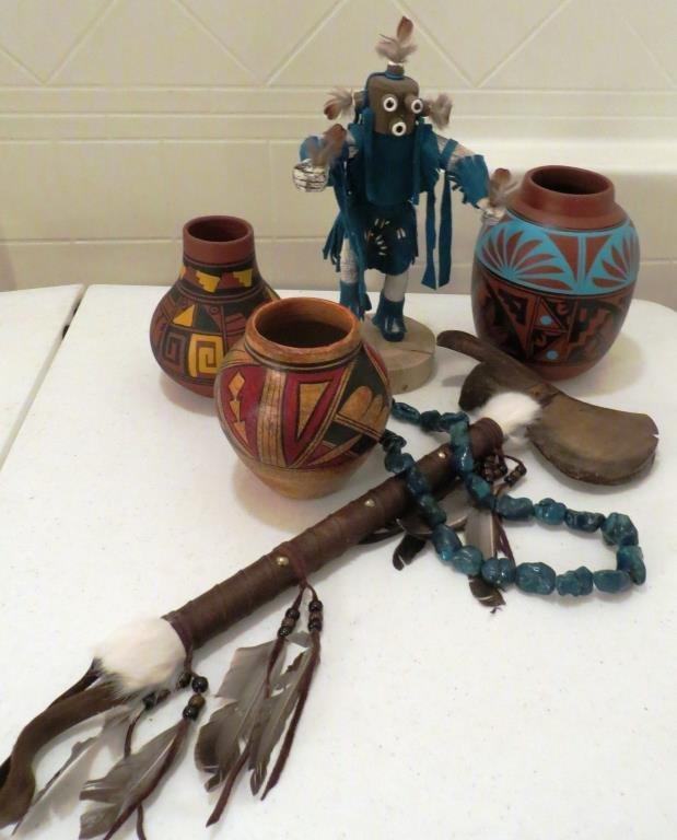 (6) Pcs. Lot of Native American Trading Post Items