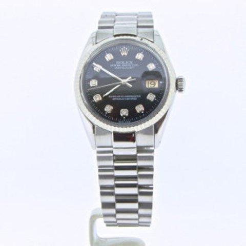 Fine Man's Rolex Diamond Dial 18k Bezel
