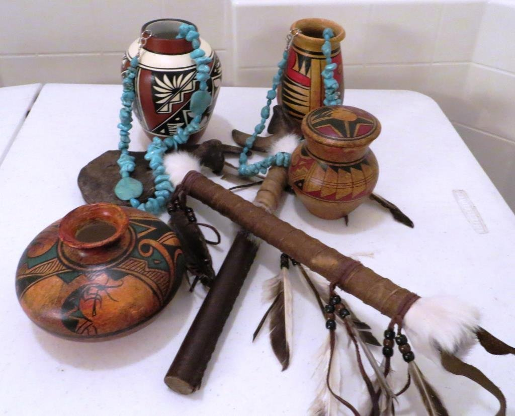 (8) Pcs. Lot of Trading Post Indian Items