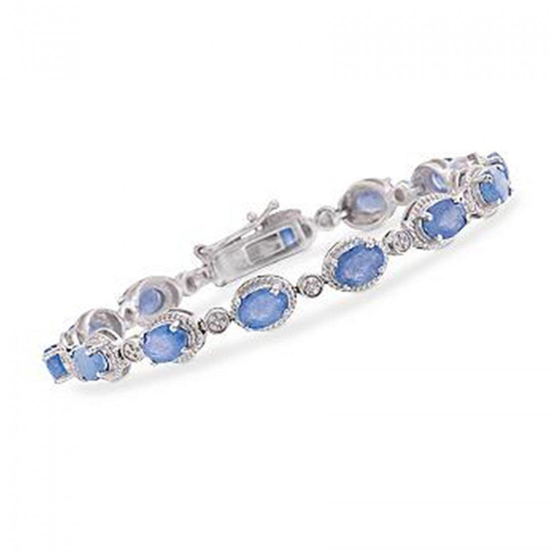 9.10 ct. t.w. Tanzanite Bracelet With Diamonds