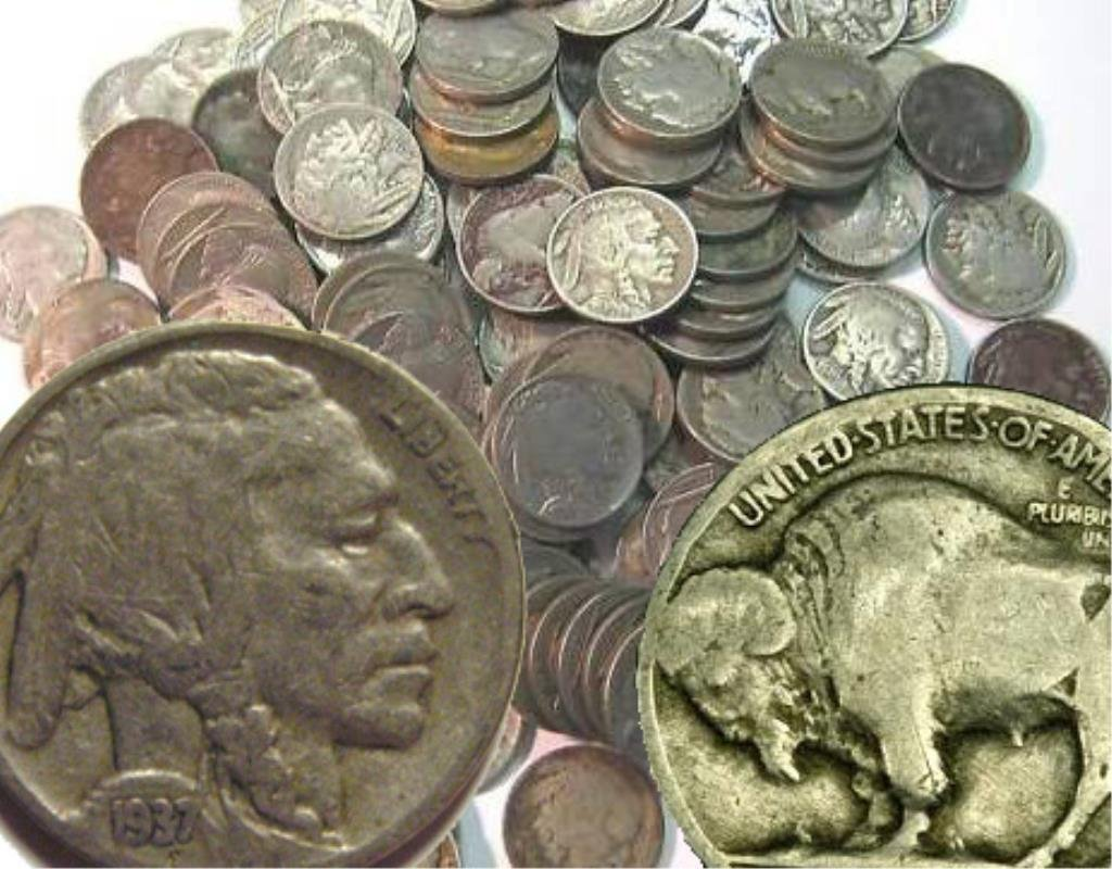 Lot of (100) Buffalo Nickels - PD- RD