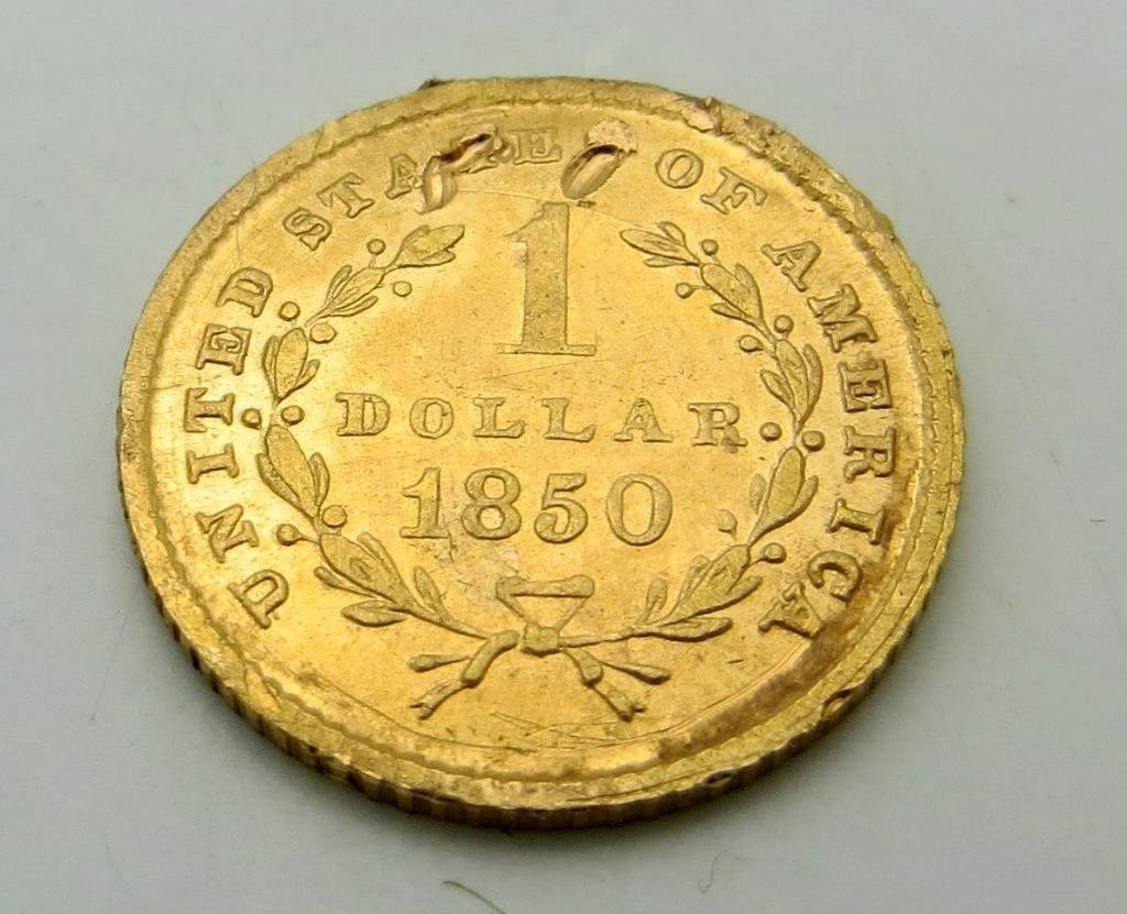 1850 $ 1 Gold Liberty As Shown