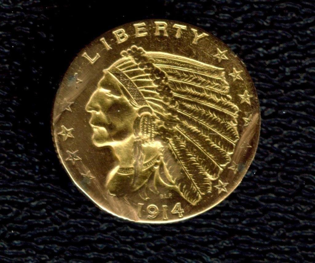 1914 D $ 2.5 Gold Indian Details