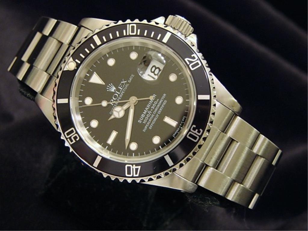 Man's Rolex Submariner Date Balck Face