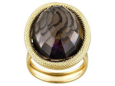 Toscana Colori With Smoky Quartz 14k Yellow Gold Ring