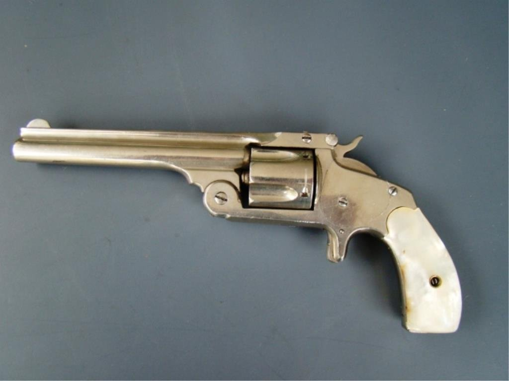 S&W Baby Russian Pearl Grips Antique Nickle Antiqu