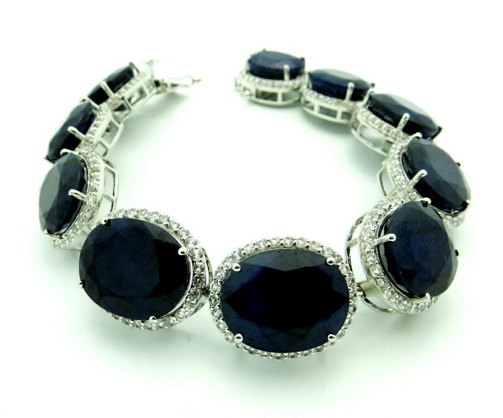 $9,920 109.79 ct. Sapphire Bracelet