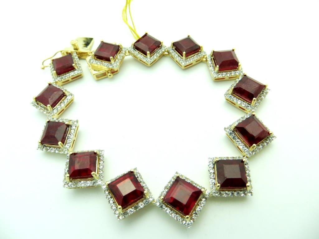 $7,785 Ruby & Sapphire Bracelet