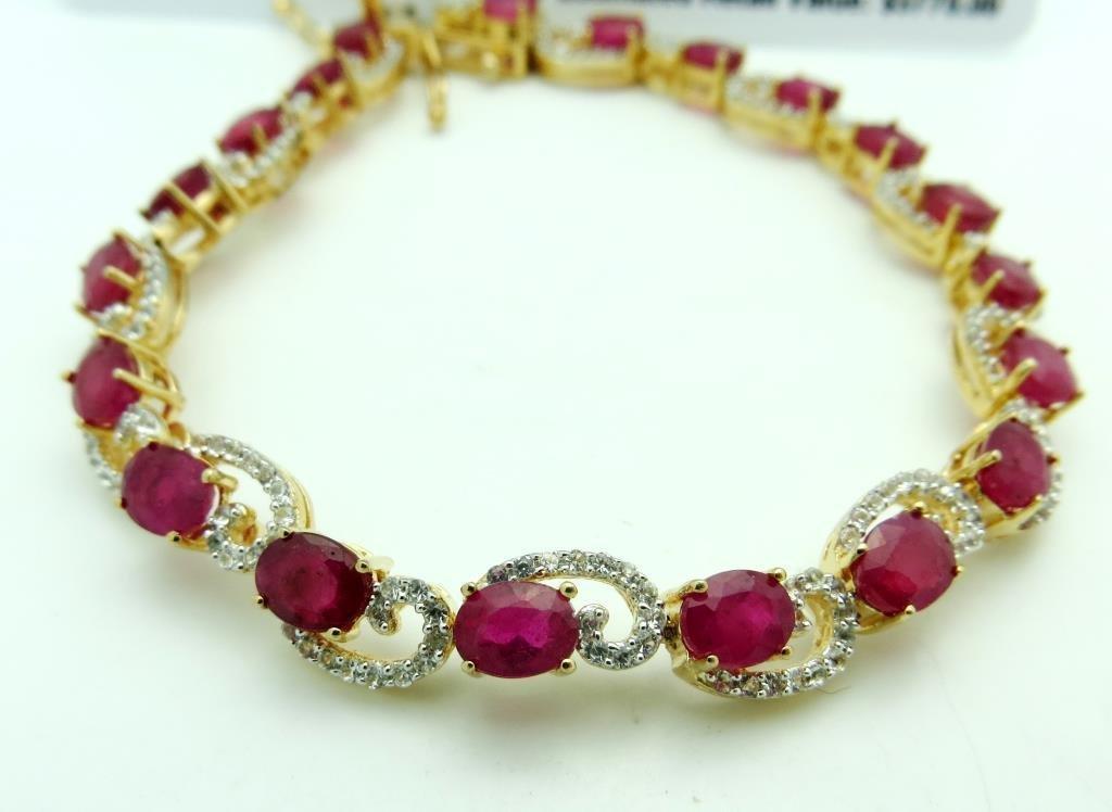$3,770 Fancy Ruby & Sapphire Bracelet