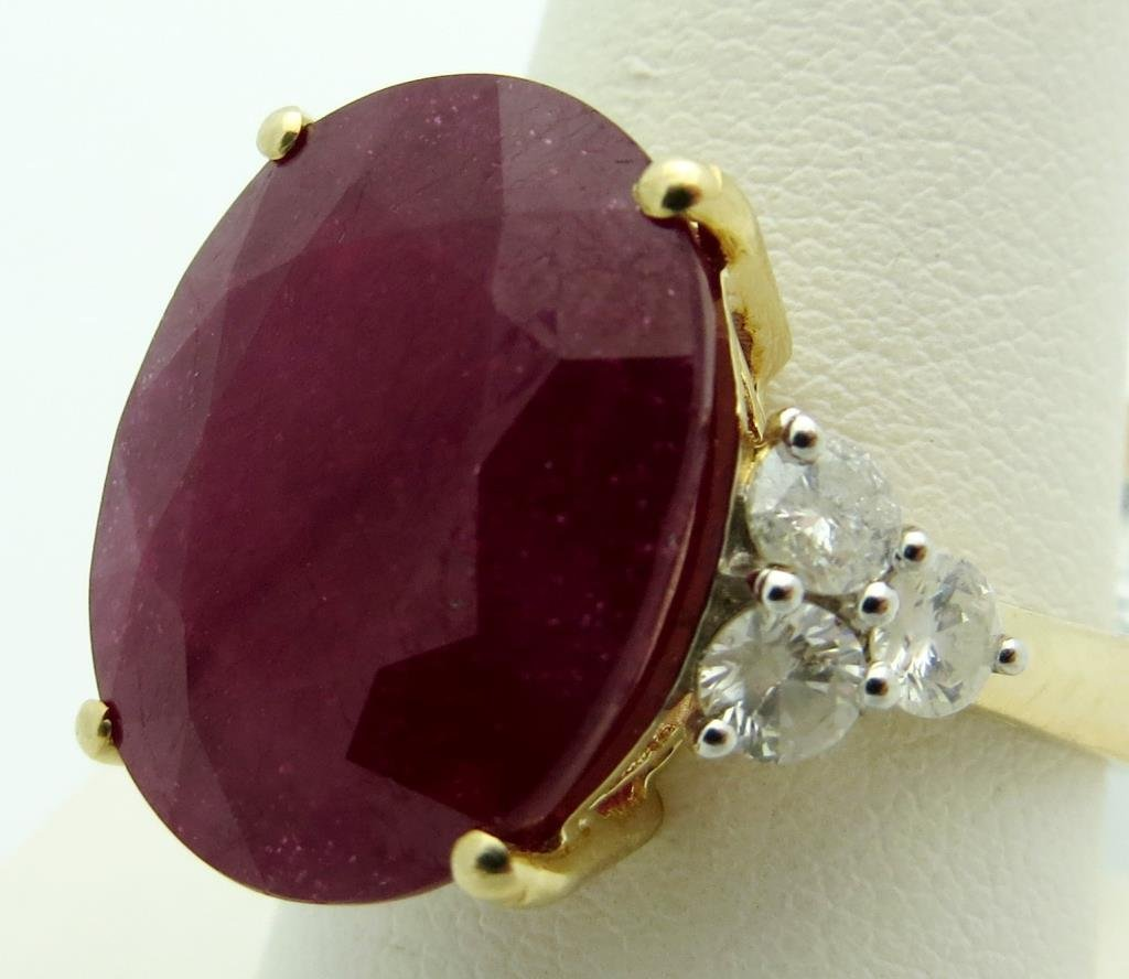 $6,260 Ruby & Diamond Ring