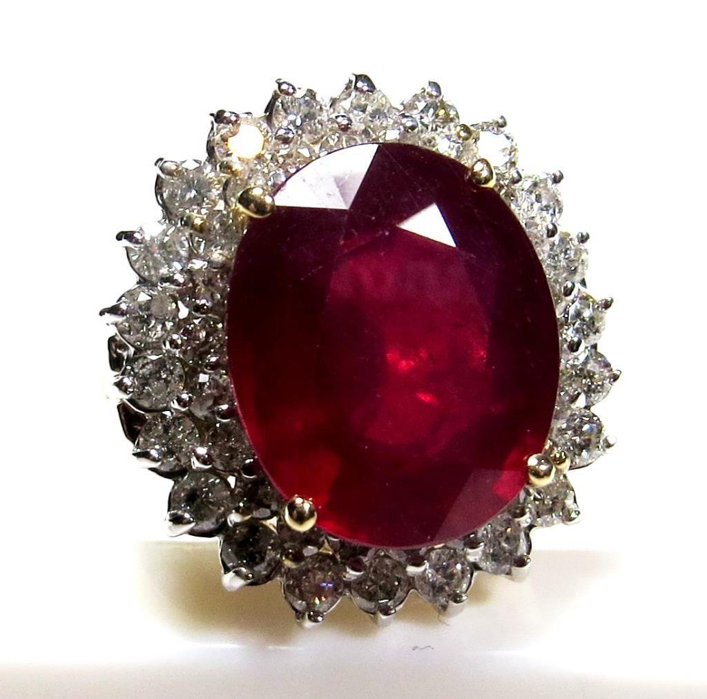 $23.3K GG App. Ruby & Diamond Ring