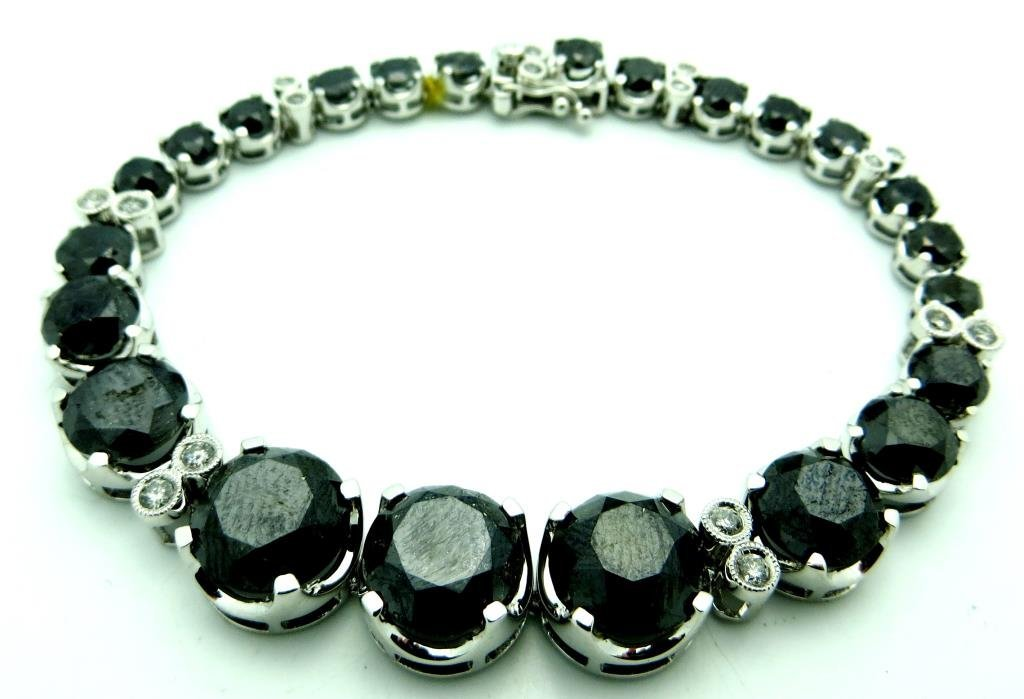 $28,230 GG App. Stunning Black Diamond Bracelet