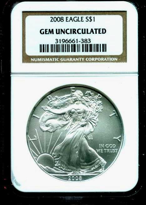 2008 Gem Uncirculated NGC Silver Eagle