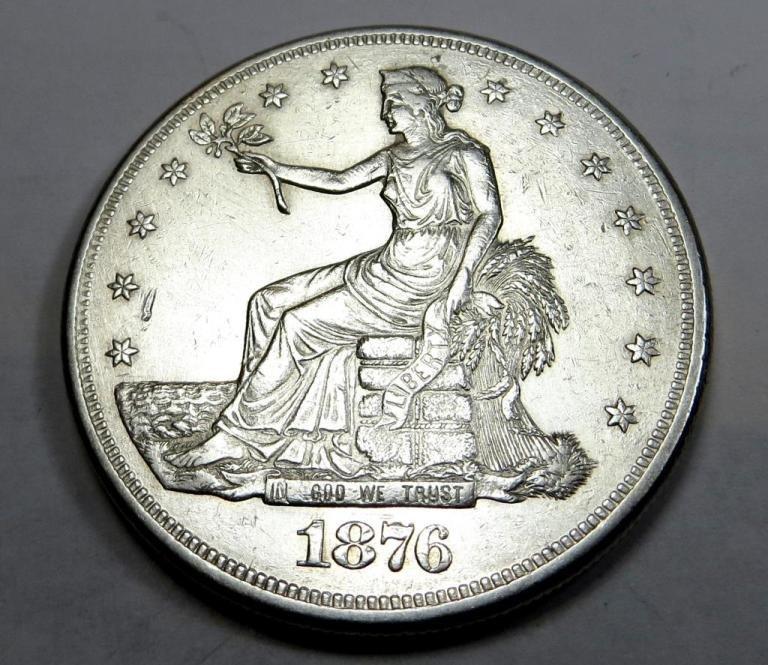 1876 Carson City Mint Luster trade Dollar