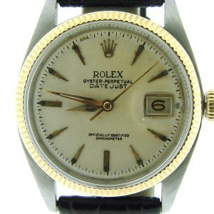 Vintage Men's Rolex 14k/SS Cream Dial