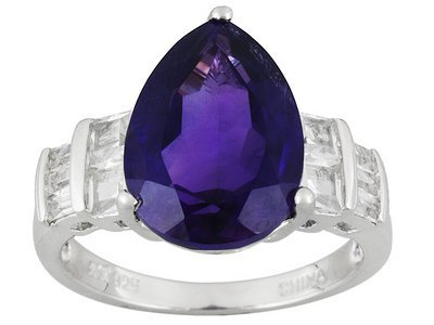 Amethyst,5.29ct With .95ctw White Topaz Sterling Silver