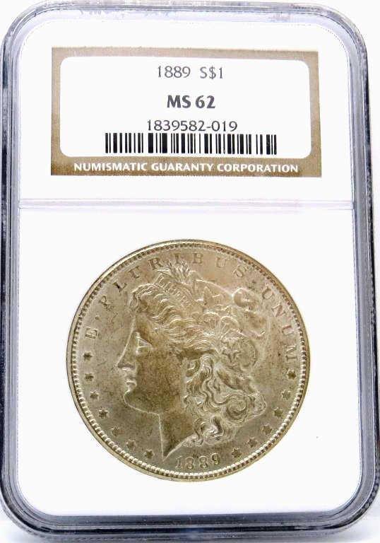 1889 MS 62 NGC Morgan Dollar